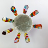 Touillettes / agitateurs -  modèle café/thé - multicolore 12 cm