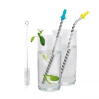 Kit de pailles à boire durable, acier
