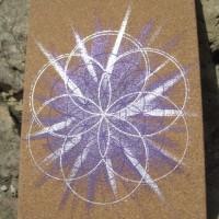 Carnet Sacré en liège Fleur de Vie violet