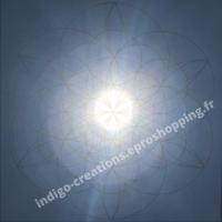 Fleur de Vie Multidimensionnelle sur un soleil dans un ciel du sud