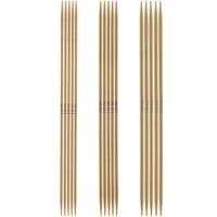 RICO DESIGN Jeu de 5 aiguilles à chaussettes en bambou 15 CM (N° 2,5 - N° 3 - N° 3,5)