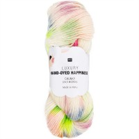 RICO DESIGN LUXURY HAND-DYED HAPPINESS chunky 006 (rouge vert) Echeveau