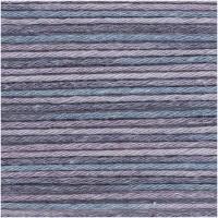 RICO DESIGN BABY COTTON SOFT PRINT dk 026 (bleu lilas) 50 GR. 125 M. AIG. N° 3,5 - 4