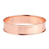 Bracelet rigide en métal rosé à personnalisé