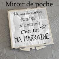 Miroir - Idée cadeau marraine - Cadeau noël - Cadeau anniversaire