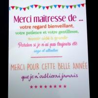 Plaque en alu à accrocher (affiche) - Idée cadeau fin d'année scolaire - Idée cadeau maîtresse - Idée cadeau maître