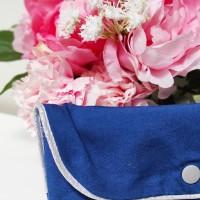 Pochette bleu & or