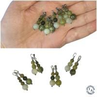 Pendentifs Unisexes Thorfinn - Lot de 2 - Acier inoxydable et pierres vertes