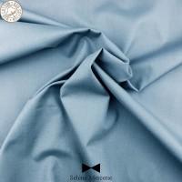 Tissu popeline unie GOTS bleu ardoise foncé. Séléné Mercerie