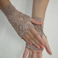 Mitaines dentelle de Calais  bracelet poignet pour prothèse extensible tatouage élégant soirée sexy