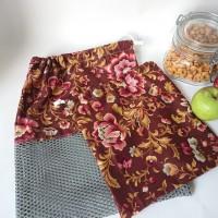 lot de sacs a vrac / sacs à fruits et à légumes - fleurs d'automnes
