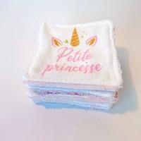 lot de 8 lingette toutes douces - Princesse