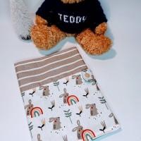 Protège carnet de santé en coton et coton enduit (lapin) - personnalisable