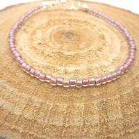 Bracelet fin a porter seul ou à assembler, perles de rocaille roses pale